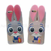 Cute Cartoon Bunny Zootopia Judy Police Siicone Case Cover For iPhone SE 6s Plus
