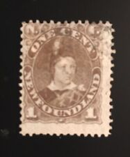 Stamps Newfoundland SC42 1c grey brown Edward Prince of Wales  See description