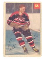 1954-55 Pete Conacher #86 Chicago Black Hawks Forward Parkhurst Hockey Card H449
