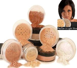 Mineral Makeup Powder Foundation 6 PIECE SET Bare Pure Minerals Magic Coverage