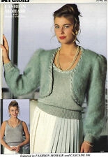 PATONS ~ BOLERO AND TANK TOP ~  IN FASHION MOHAR AND DK