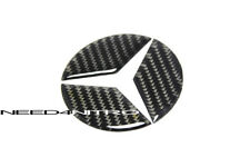 For 08~14 Mercedes C Class W204 Carbon Fiber Trunk Emblem Filler Decal C250 C350