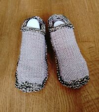 Handmade Knitted Slippers/Booties Warm Durable  Phentex 100% Canadian Made