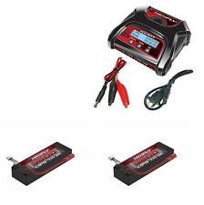 Redcat Hexfly HX-403 Dual Battery Charger & 2 5800mah 7.4v LiPo Packs w/ Deans
