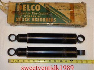 (2)....NOS Delco H-219 Shocks....GM #5394983....Willys, Pontiac, Buick,...etc