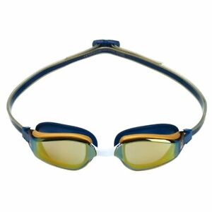 Aqua Sphere Fastlane Swimming Goggles, Mirrored Lens - Navy & Gold, Fitness & Tr