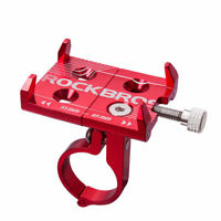 Rockbros MTB Road Bike Aluminum Alloy Cycling Phone Holder Adjustable Red