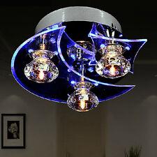 Dining Room LED Light Crystal Chandelier Ceiling Lamp Retro Moon Star Home Decor