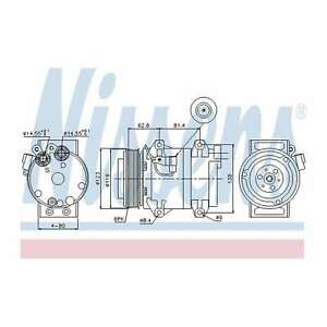 Fits Volvo V70 MK2 R 2.5 T AWD Genuine OE Quality Nissens A/C Air Con Compressor