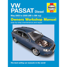 VW Passat Haynes Manual 2005-10  1.9 2.0 Turbo Diesel Workshop Manual