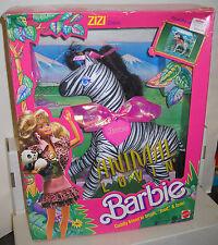 #7739 Nrfb Vintage Mattel Animal Lovin Barbie Zizi Zebra