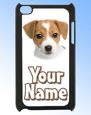 JACK RUSSELL DOG / PUPPY IPOD TOUCH 4 PERSONALISED CASE / REAR COVER & NAMED TOO