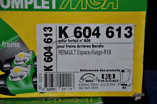 satz bremse rückseite mga,k604613,renault 18,fuego,espace ; 228x42 ;zylinder: