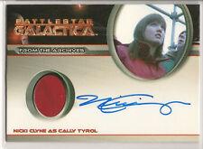 Battlestar Galactica Season 4 Costume Autograph Card Nicki Clyne Cally Tyrol