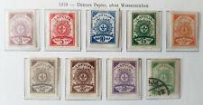 """Lettland """"Lettland 1919 - Dünnes Papier, ohne Wasserzeichen"""" ungebr."""