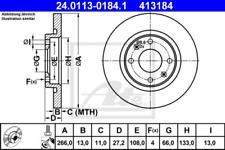 2x Bremsscheibe für Bremsanlage Vorderachse ATE 24.0113-0184.1