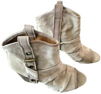 NINE WEST VINTAGE AMERICA COLLECTION WOMENS BOOTS OPEN TOE,SIZE  8-1/2,BEIGE