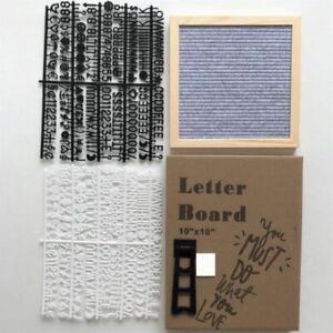 10x10 Inch Square Felt Letterboard Oak Wood Message Board 450 Plastic Lett *P