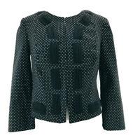 CAbi #5156 Women's Black Polka Dot Clasp Front Career Blazer Jacket Size 0