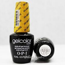 OPI GelColor Euro Central GC E78 OY-ANOTHER POLISH JOKE! 15mL Gel Shimmery Gold