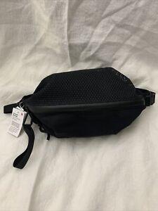 Lululemon All Hours Belt Bag NWT Black Mesh Crossbody Fanny Pack LW9CJZS $68