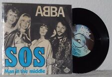 ABBA - SOS - DANISH PS - ULTRA IMPOSSIBLE RARE BLUE FONT Picture Sleeve