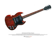 Pete Townshend's Gibson SG Special ART POSTER A3 size