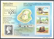 "E411 NAURU ""London 1980"" Expo Trains, Phosphate Mine Mint NH"