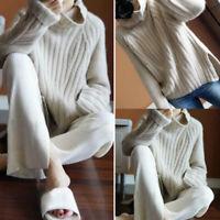 Women Pullover Sweater Winter Cashmere Pullover Sweatshirts Turtleneck