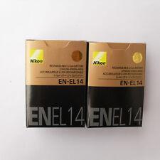 2x EN-EL14 Battery For Nikon Coolpix P7000 P7100 D5000 D3100 D5100 D3200 Camera