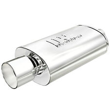 Magnaflow 14832 2.25 inlet / 4 outlet Polished Stainless Steel Muffler w/ Tip