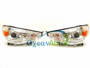 1 Pair Front Head Lamp Headlights For Mitsubishi Outlander Sport RVR ASX 10-2015