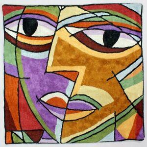 Picasso Handmade Silk Pillow Hand Embroidered Sofa Boho Art Home Bed Decor