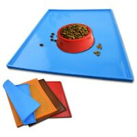 Dogs Pets Feeding Bowl Mat Food Water Dish Placemat Non-Slip Mat Silicone P8PL