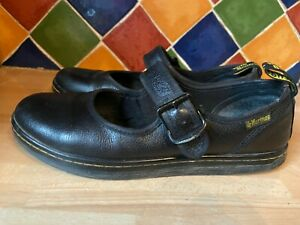 Dr Martens black leather mary jane ladies shoes size 7-good condition