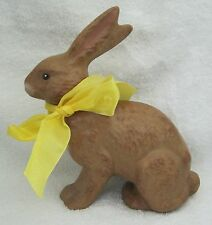 Older Chocolate Rabbit Bunny Larger Rabbit Figurine 7 1/2 Inches Tall Very Cool!