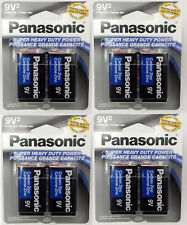 8 PANASONIC SUPER HEAVY DUTY  9v BATTERIES