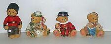 Cherished Teddies Gordon, Duncan, Bertie, Sherlock Figurines Lot of 4 NEW