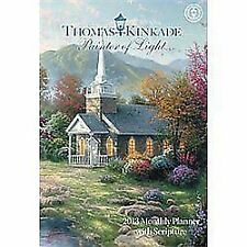 Thomas Kinkade Painter of Light with Scripture 2013 Large Monthly Planner Calend