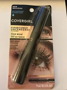 NEW Covergirl Exhibitionist Uncensored Mascara #990 Waterproof Extreme Black