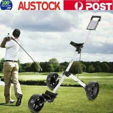 Golf Trolley Cart Buggy Bag 3-Wheel Swivel Anti-shock w/Brake Foldable Aluminium