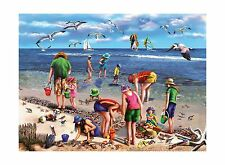 White Mountain Puzzles Shell Seekers -550 Piece Jigsaw Puzzle Free Shipping