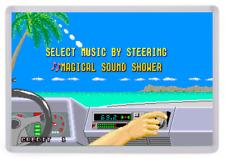 Outrun Arcade Fridge Magnet (Magical Sound Shower Radio Select) Retro Gaming