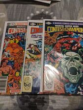 MARVEL SUPER HERO CONTEST OF CHAMPIONS #1-3 COMPLETE MINI-SERIES - MARVEL/1982