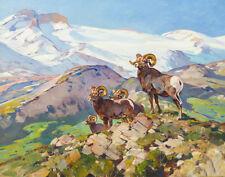 Rungius Carl Big Horns Canvas 16 x 20   #6736
