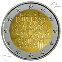 PORTUGAL 2 euro 2018 S/C 250 Años de la Oficina Nacional de Imprenta