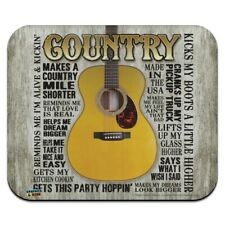 Guitar Country Music Low Profile Thin Mouse Pad Mousepad