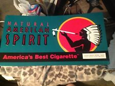 "American Spirits Cigarettes Metal Embossed Tobacco Sign Excellent Shape 21""x11"""