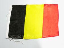 DRAPEAU BELGIQUE 45x30cm - PAVILLON BELGE 30 x 45 cm polyester léger - Neuf - Ha