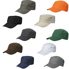 Euro Kids Military Cadet Army Cap Hat 100% Cotton 10 Colours
